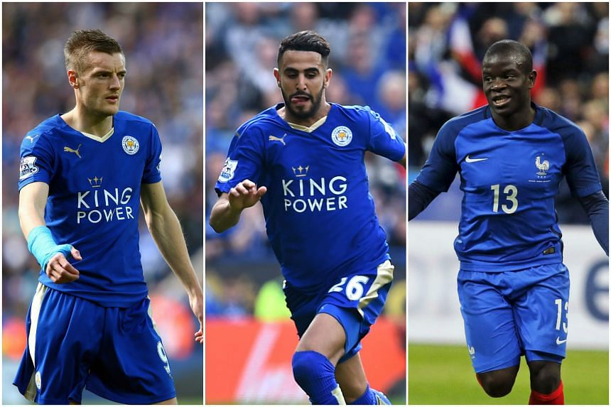 Leicester City stars (from left) Jamie Vardy, Riyad Mahrez and N'Golo Kante have been shortlisted for the Professional Footballers' Association Players' Player of the Year award.