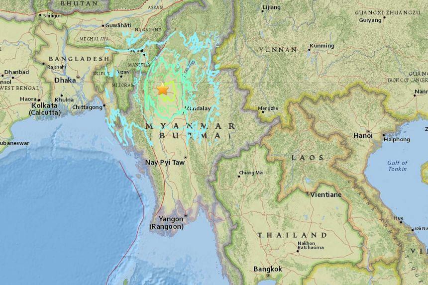 A 6.9-magnitude earthquake struck Myanmar on April 13, 2016.