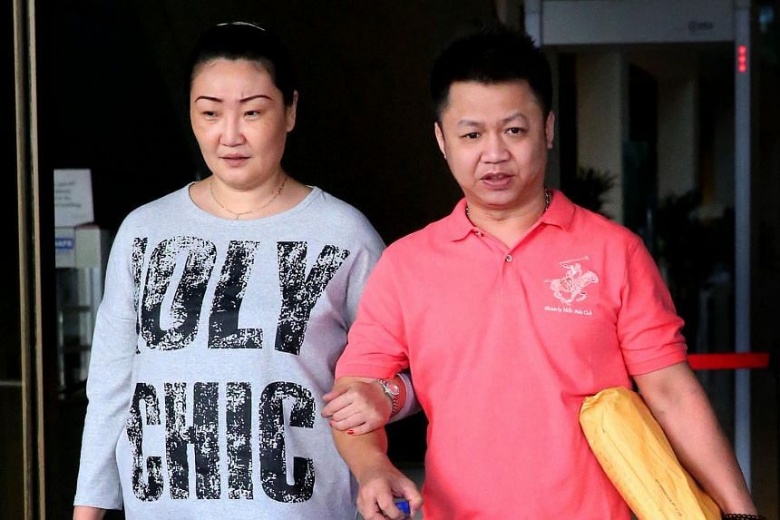 Lee Seow Peng (right) was on Wednesday (April 13) sentenced to 12 years' jail and nine strokes of the cane for statutory rape, sexual grooming of a minor and attempting to get the minor to perform an indecent act.