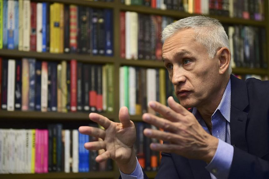 Mexican-American journalist and author Jorge Ramos speaks during an interview with AFP in Mexico City.