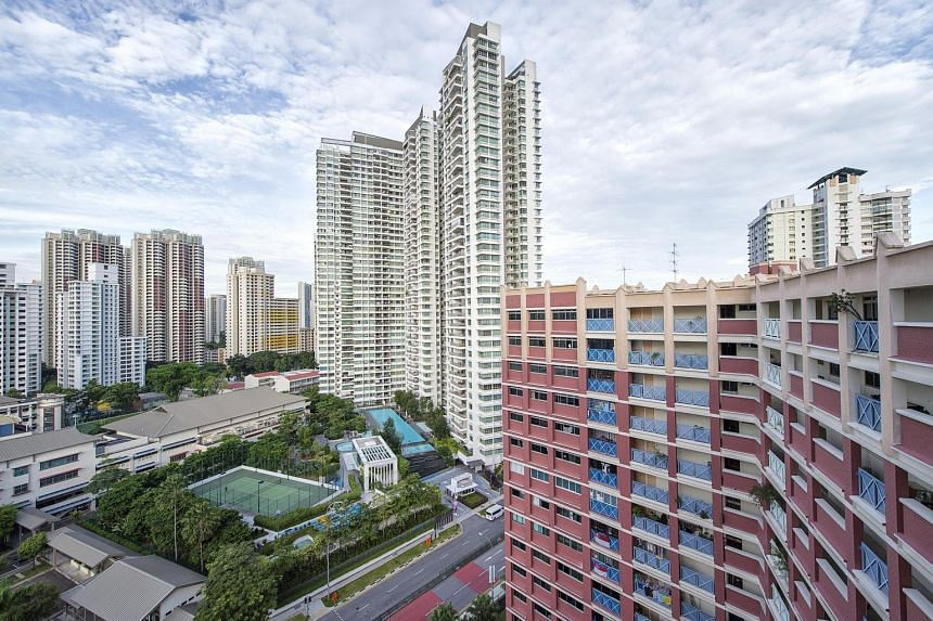 A private residential complex among HDB buildings in Toa Payoh.