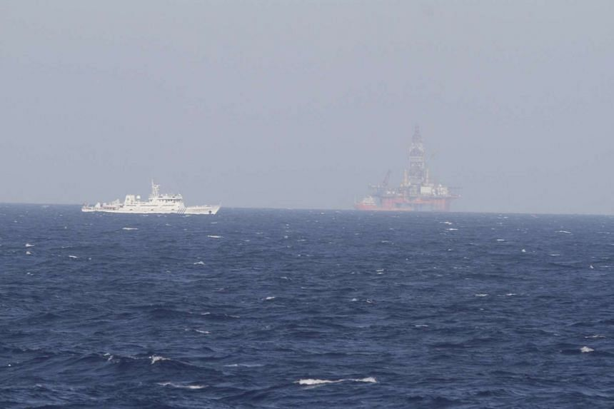 Chinese oil rig Haiyang Shi You 981 in the South China Sea, off the shore of Vietnam on May 14, 2014.