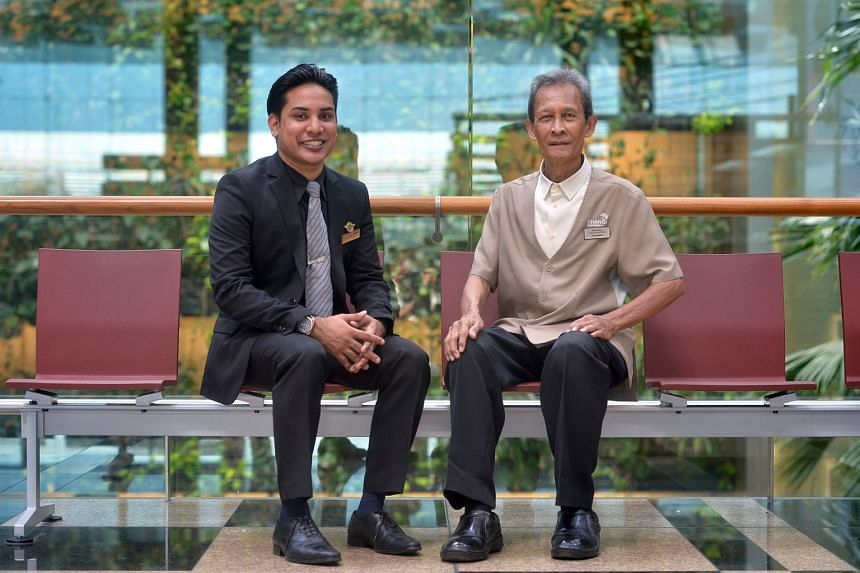 Award winners at Changi Airport's 2016 Annual Airport Celebration include Mr Haresh (left), who flew to India to return a laptop a passenger had left behind, and Mr Wahid, who returned a pouch which contained A$10,000.