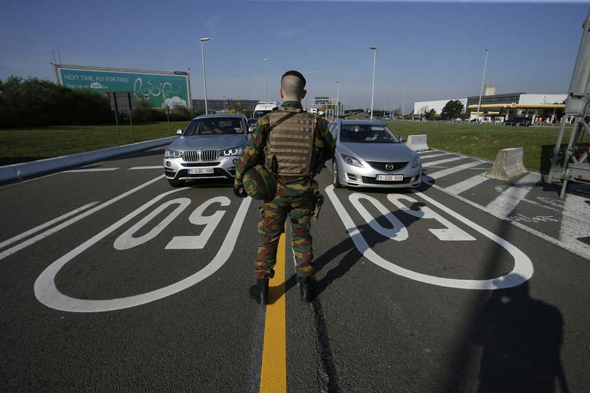 Armed patrols are a common sight at the Brussels airport since suicide bombers claimed 32 lives when they blew themselves up there and at a metro station in the city on March 22.