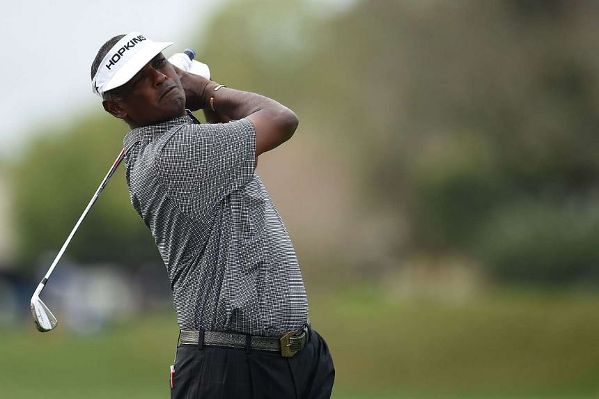 Vijay Singh during the second round of the 2016 Masters Tournament, at Augusta National Golf Club on April 8, 2016.