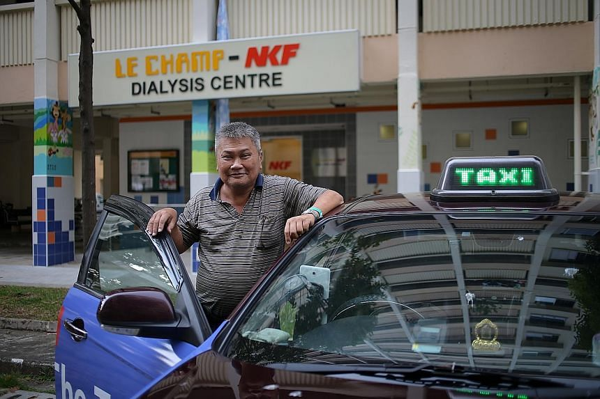 Taxi driver Wong Pang Koon, who used to down cans of Red Bull while on the night shift to stay awake, was told by a doctor 20 years ago that he had diabetes. Recently, he developed kidney failure, and now has to undergo dialysis three times a week. M