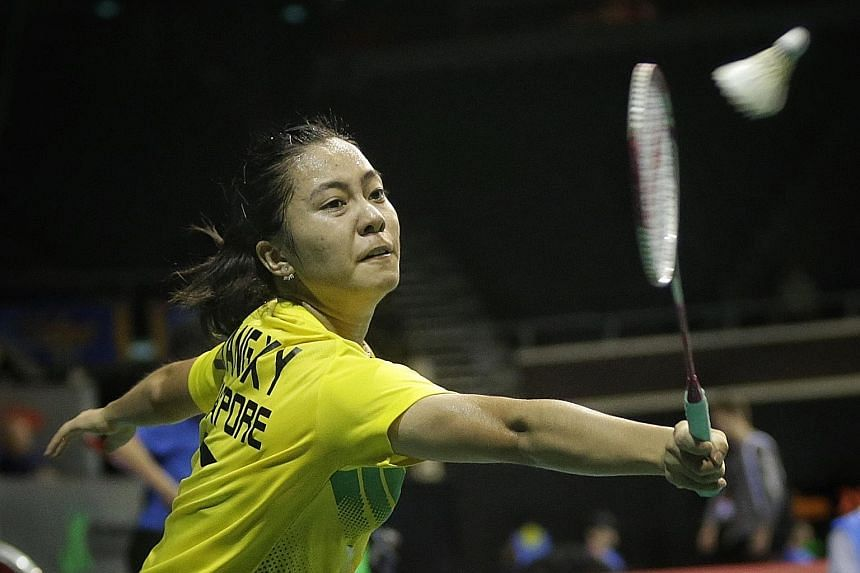 Liang Xiaoyu struggled to keep up with China's Sun Yu in the first round.