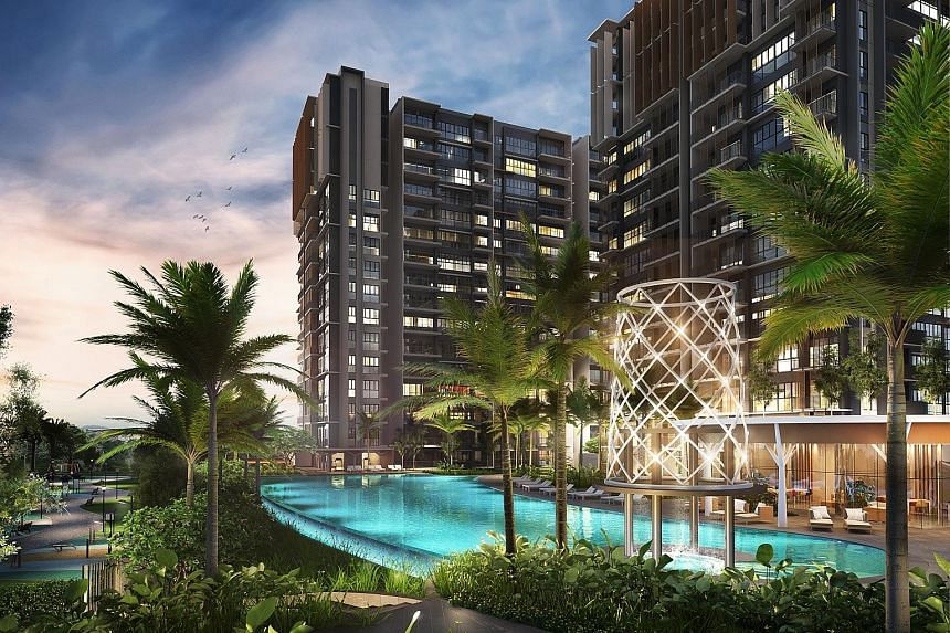 About 77 per cent of Parc Life's units are three-bedroom or three-plus-universal room options. The 628-unit executive condominium project will have spa pools, a 50m infinity pool overlooking Canberra Park and a pet-grooming pavilion.