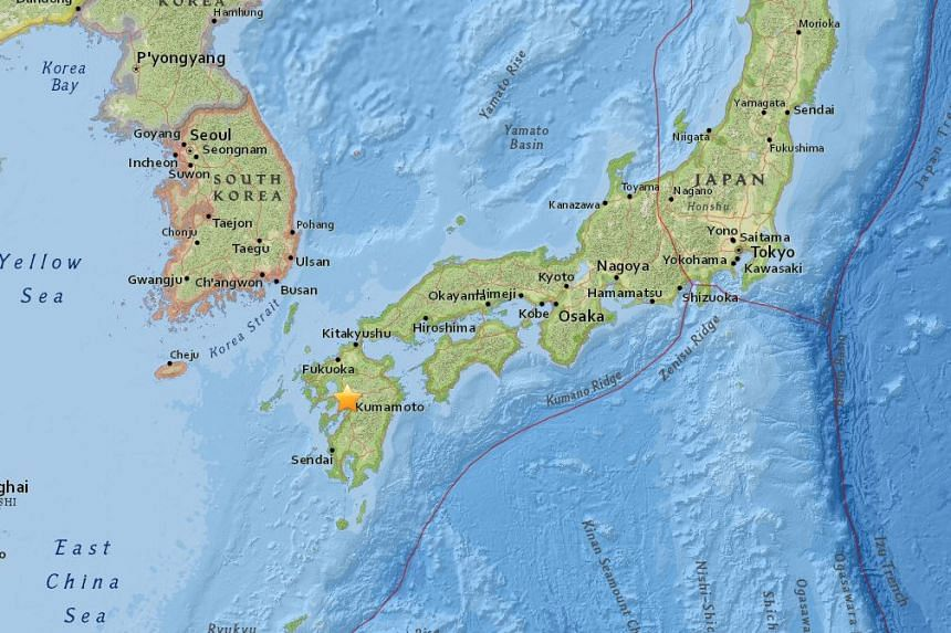 A magnitude 6.2 earthquake struck Japan's southern Kumamoto prefecture on April 14, 2016.
