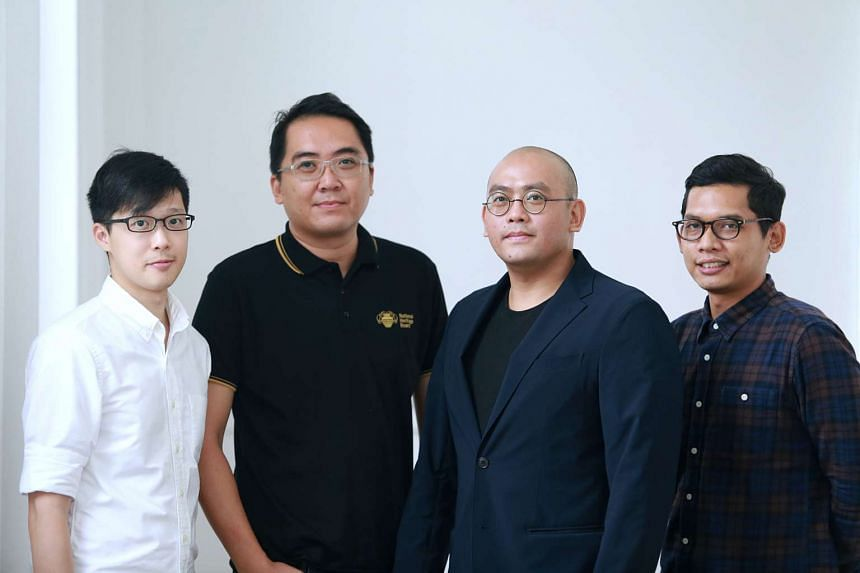 The NHB digital team behind Roots.sg (from left) Ian Liu, Nicholas Chen, Shaun Wong and Norfaiz Noeryamin