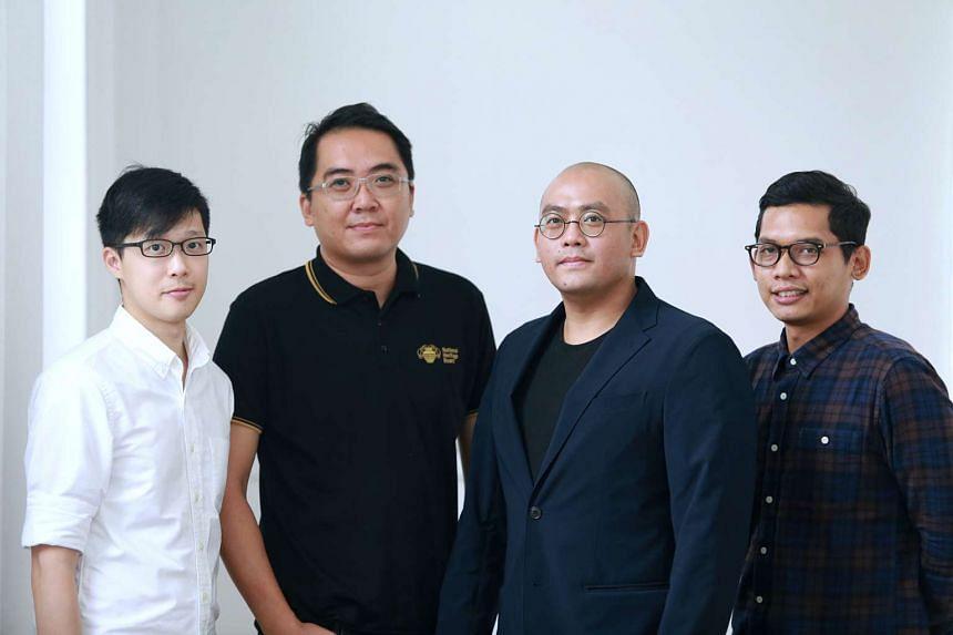 The NHB digital team behind Roots.sg (from left) Ian Liu, Nicholas Chen, Shaun Wong and Norfaiz Noeryamin