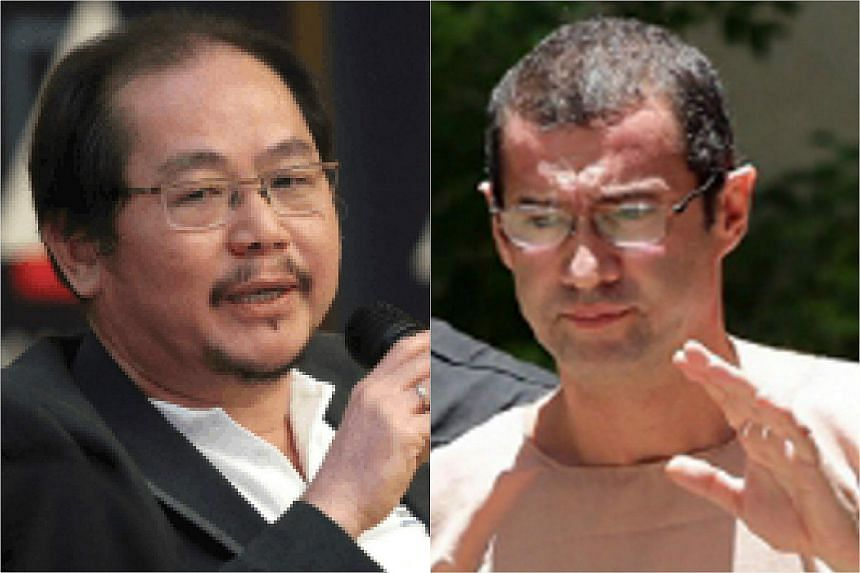 Justo (right) is suing media tycoon Tong Kooi Ong and two others as he claims he was never paid the money promised for two storage drives containing data.
