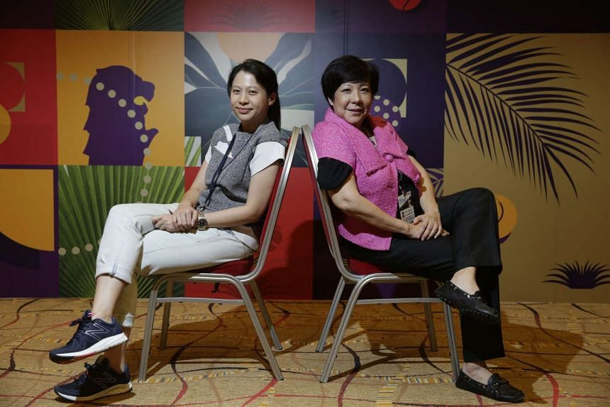 Merliza Lim (left), accounts director of PR firm Crowd, and Rose Tan, its consultant.