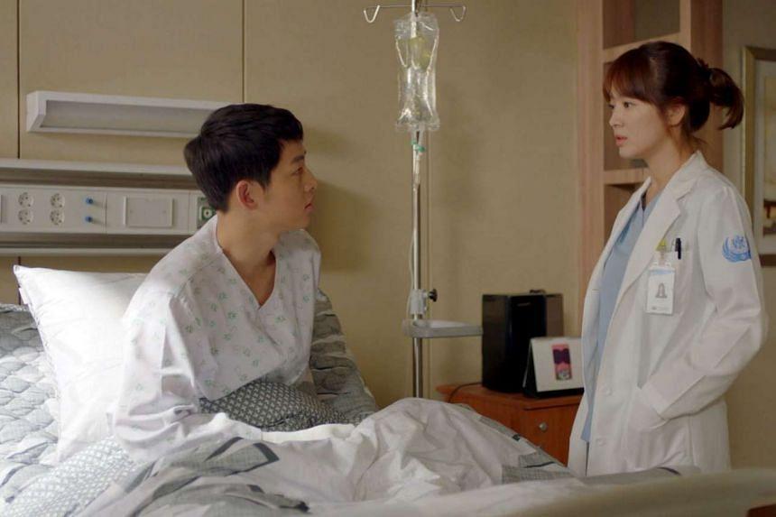 Descendants of the Sun starring actor Song Joong Ki and actress Song Hye Kyo.