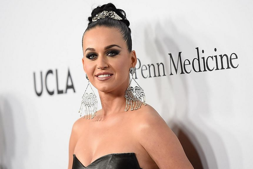Singer Katy Perry at the the launch of the Parker Institute for Cancer Immunotherapy in Westwood, California, earlier this week.