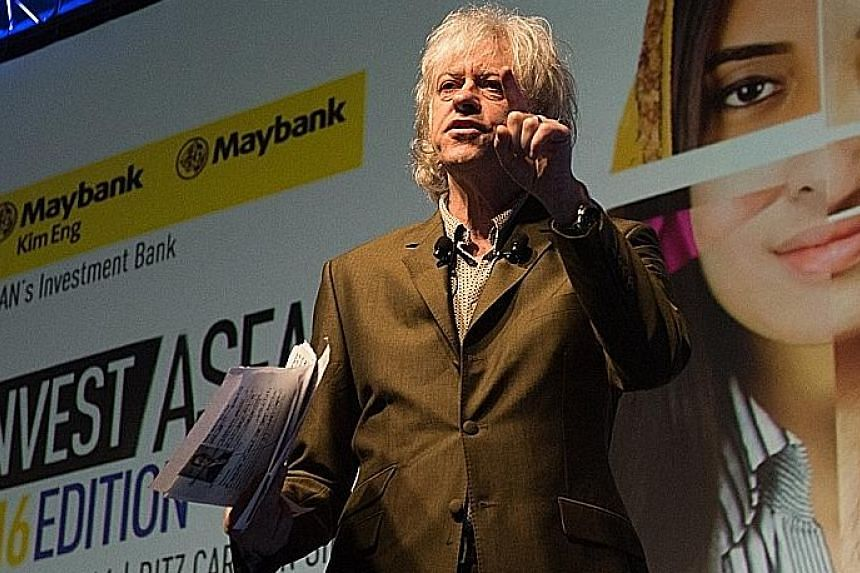 Bob Geldof painted a bleak picture of the world that is run on the current economic development model at the Invest Asean 2016 conference.
