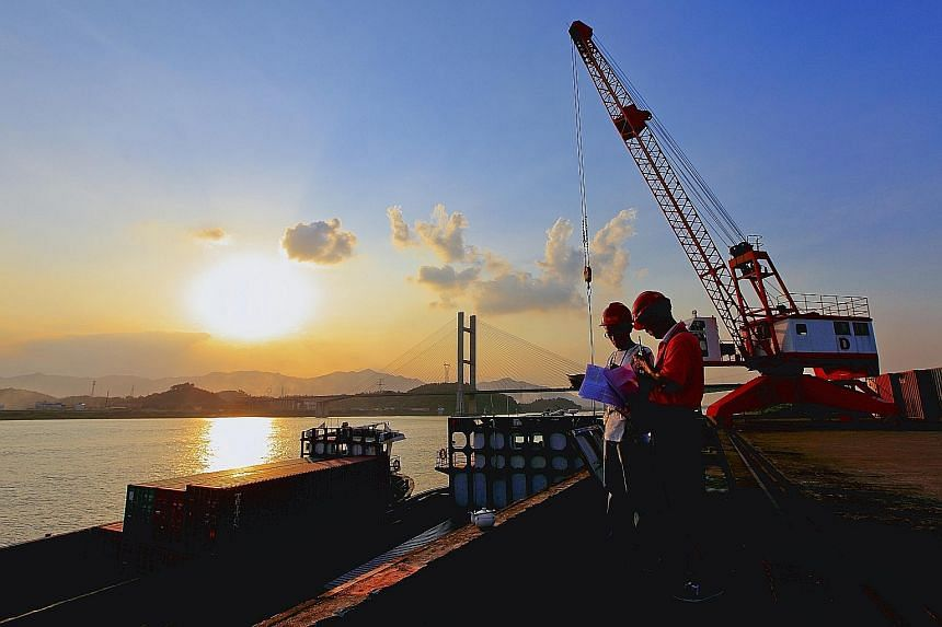 Keppel T&T is one of the leading Singaporean logistics service providers in China, with operations in five cities, including Foshan (pictured), Guangdong. It says the slowdown in China is posing challenges to its logistics division.