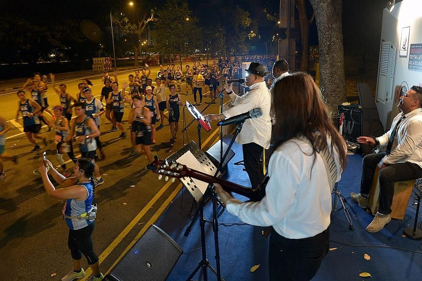 Local band Shukor and Friends entertaining participants in last year's ST Run with renditions of 1960s hits. The band will be performing again at this year's ST Run on May 22, playing current hits that the band hopes will get more people to join in s