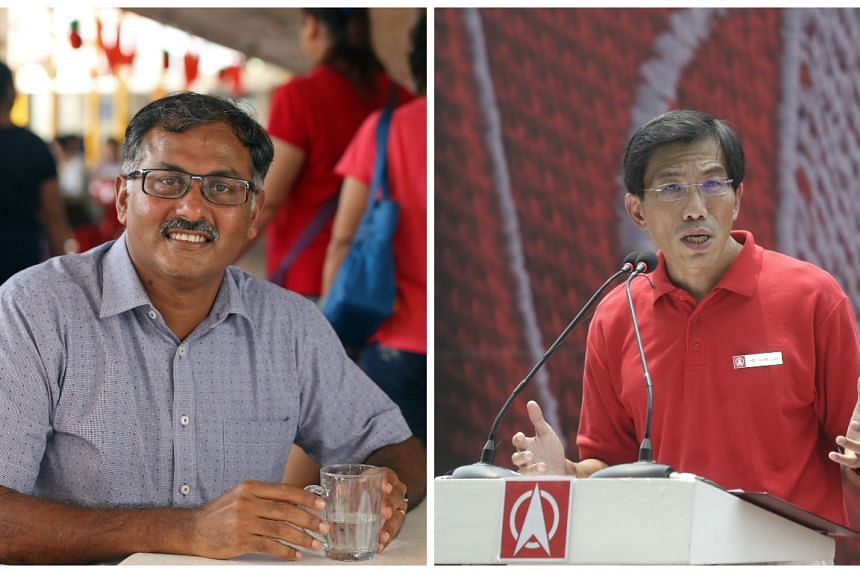 Mr Murali Pillai (left) and Dr Chee Soon Juan will be contesting the Bukit Batok by-elections.
