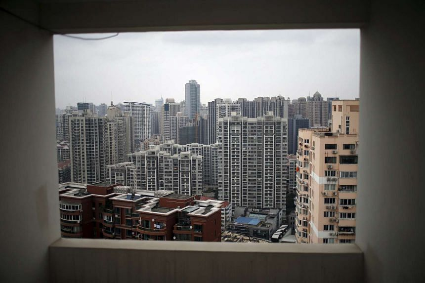 Buildings of a residential compound are seen in Shanghai, China, on March 17, 2016.