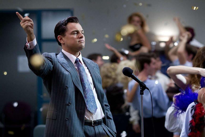 Cinema still: The Wolf Of Wall Street starring Leonardo DiCaprio.