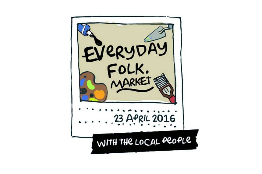 "The logo of Enabling Village's ""inaugural Everyday Folk Market,"" which would be held on April 23, 2016."