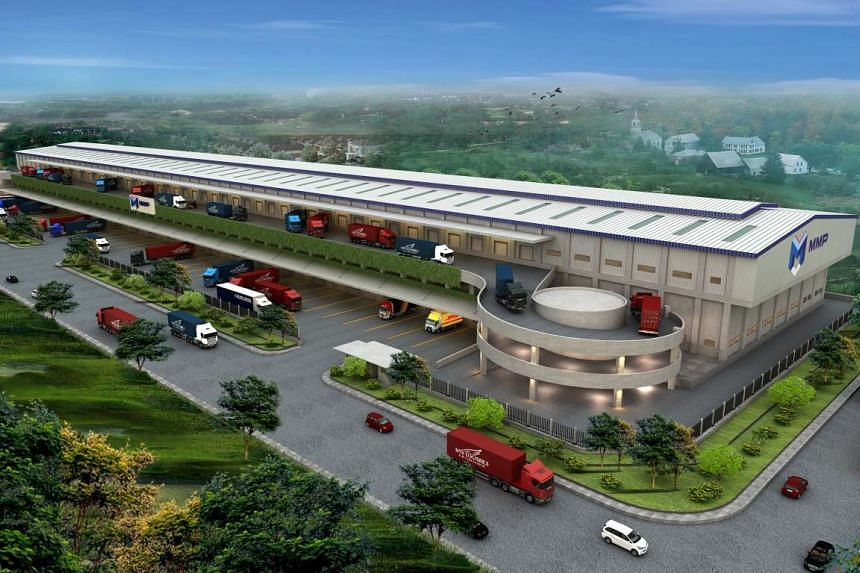 An artist's impression of the logistics warehouses by partners GIC Real Estate and  PT Mega Manunggal Property Tbk.