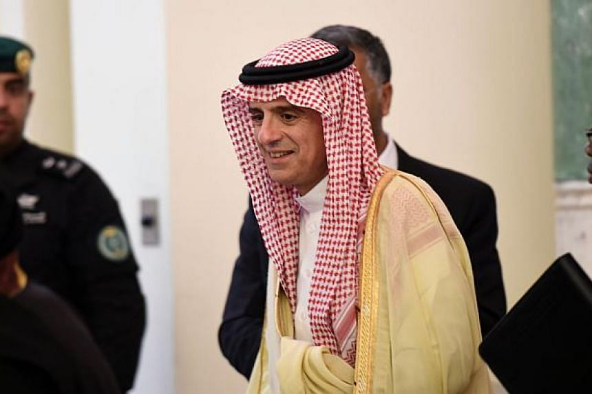 Saudi Minister of Foreign Affairs Adel al-Jubeir arriving for a press conference with his South African counterpart on March 27, 2016, in Riyadh.