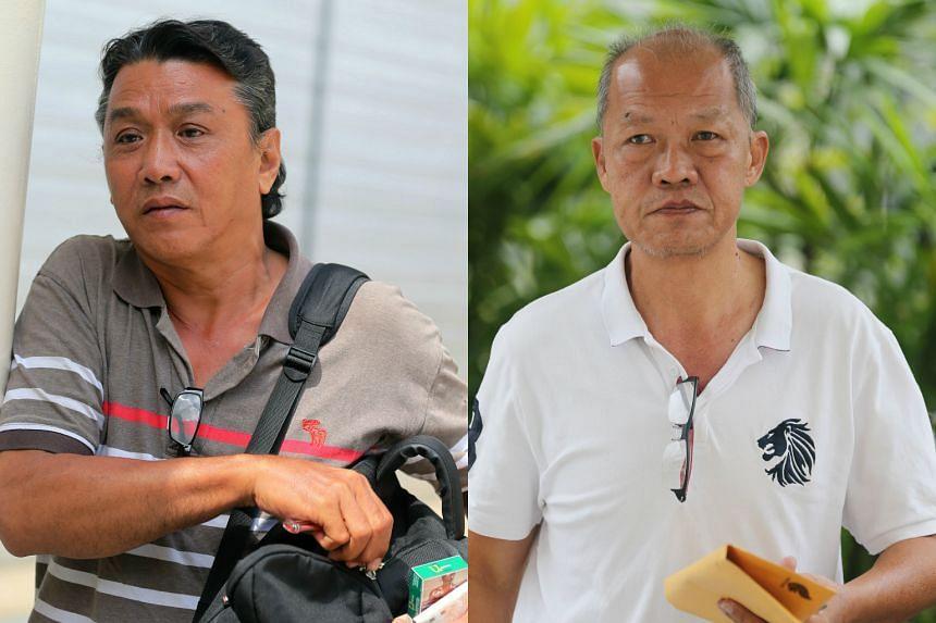 LTA officer Tan Hock Guan (left) and Uber driver Goh Kok Ling.