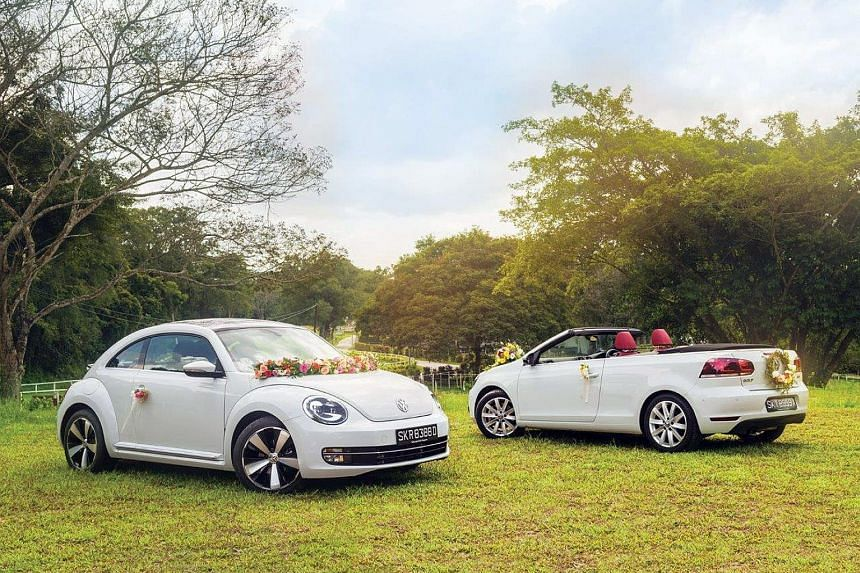 Beetle and open-top Golf Cabriolet