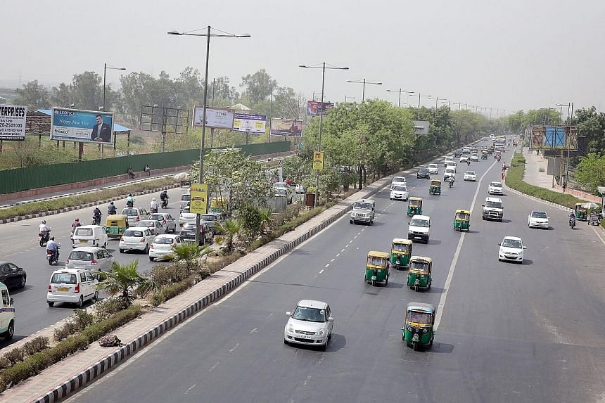 On the first day of the scheme's implementation yesterday, cars with licence plates ending in odd numbers were allowed on Delhi's roads.