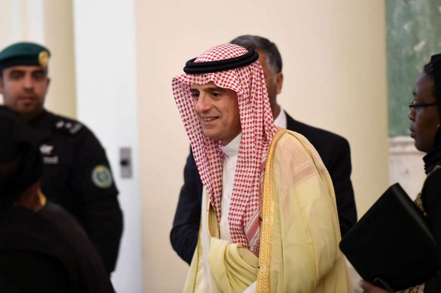 Saudi Minister of Foreign Affairs Adel al-Jubeir, arriving for a press conference with his South African counterpart on March 27, 2016, in Riyadh.