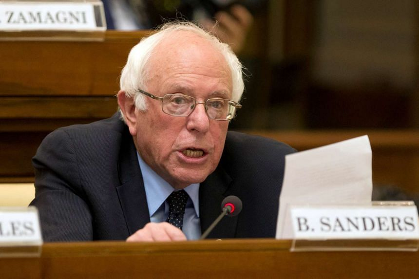 Pope Francis and US presidential candidate Bernie Sanders (above) spoke for about five minutes in the Vatican guesthouse before the Pope left for Lesbos.