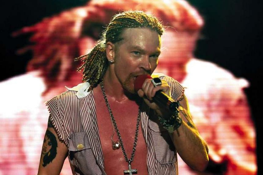 Guns N' Roses frontman Axl Rose is announced as AC/DC's new singer.