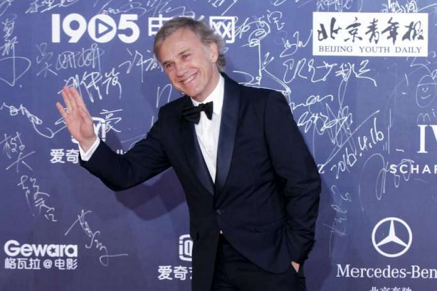 Actor Christoph Waltz arrives at the Beijing International Film Festival, in Beijing, China on April 16, 2016.