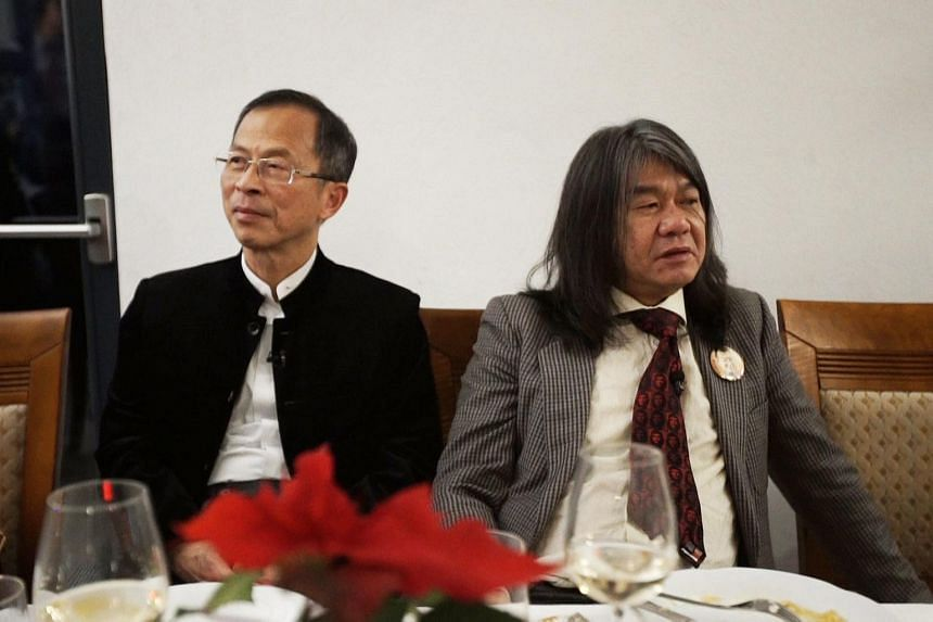 Legislative Council president Jasper Tsang (left) and radical legislator Leung Kwok Hung travelling together in Portugal for the TV show Travel with Rivals.