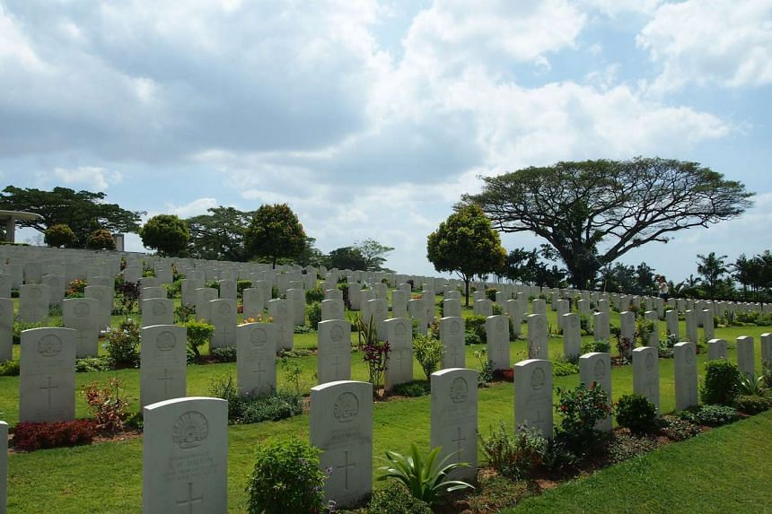 Graves at the Kranji War Cemetery.