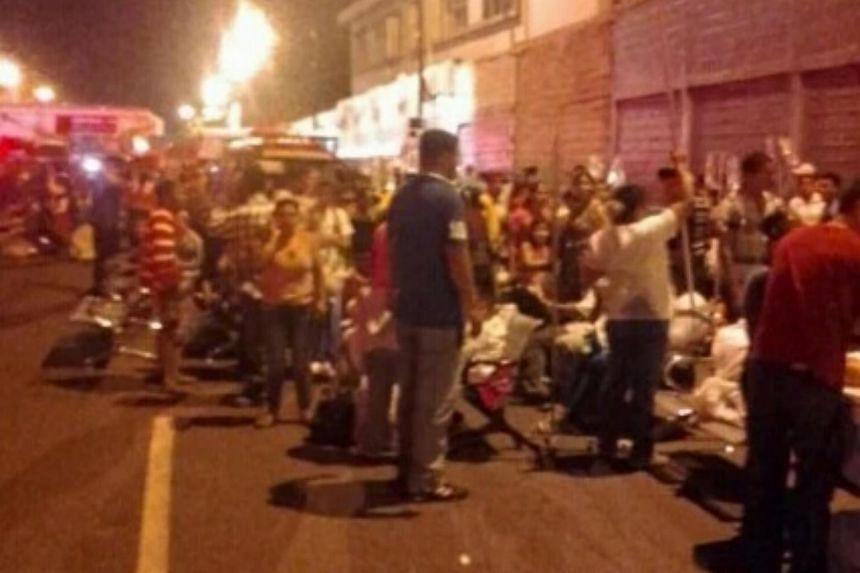A 7.8-magnitude earthquake shook Ecuador on Sunday (April 17).