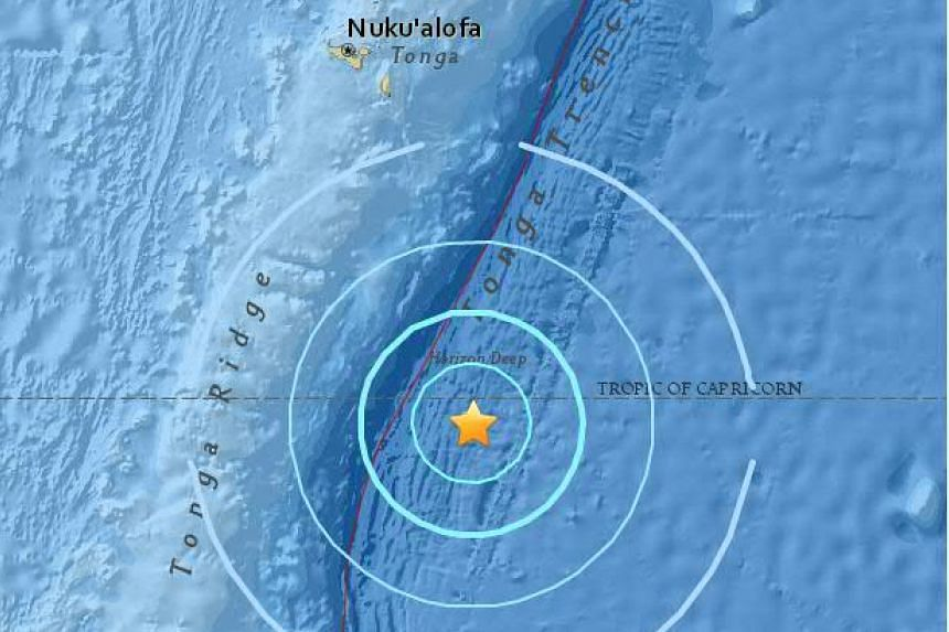A magnitude-6.1 earthquake struck south-ease of Tonga on April 17, 2016.