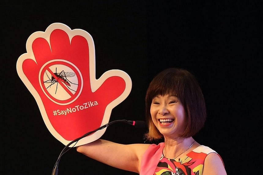 The People's Association organised a community outreach session to teach Singaporeans about Zika. Senior Minister of State for Health Amy Khor was the guest-of-honour.