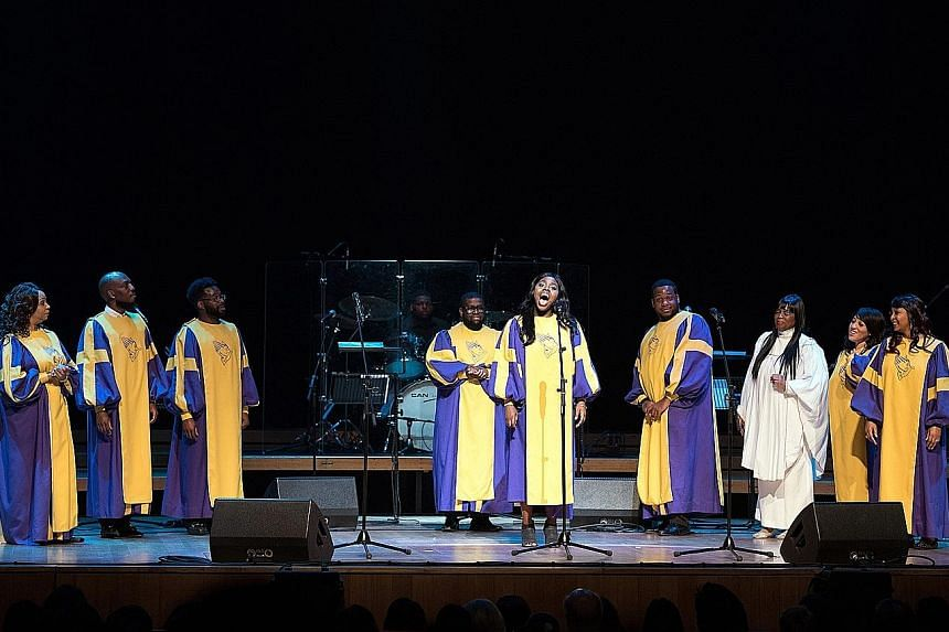 The Glory Gospel Singers thrilled the crowd with their vocal gymnastics.