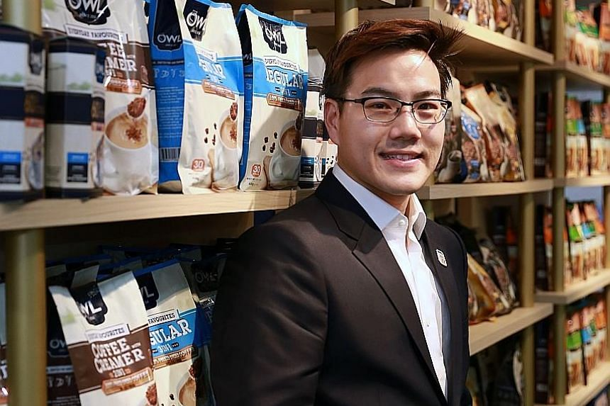 """Mr Te says his firm, home-grown coffee company OWL International, is """"not so worried"""" about the gloomy economic outlook as coffee consumption around the world has always been growing."""