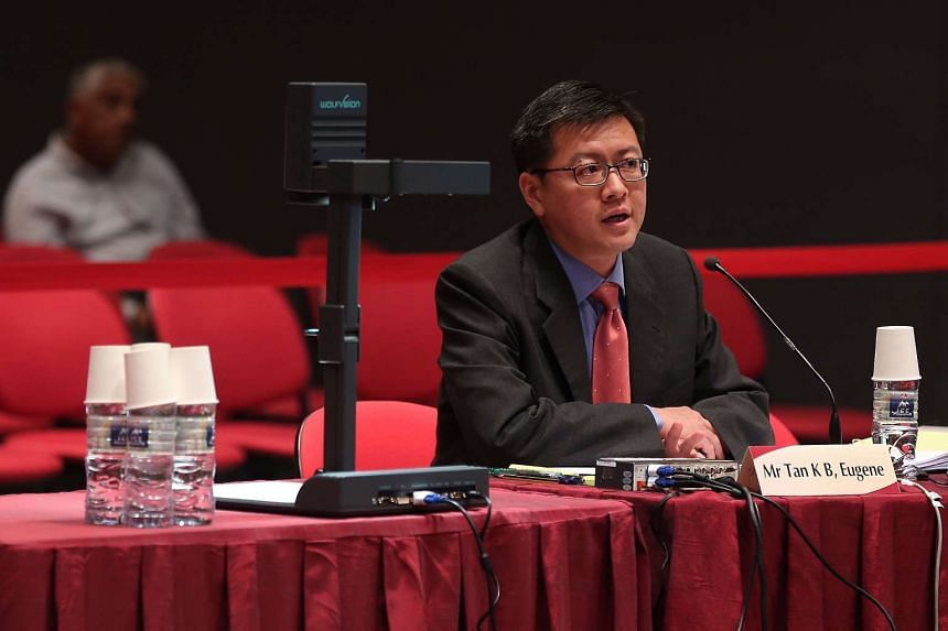 Singapore Management University Law professor and former Nominated MP Eugene Tan speaks during the morning session of the first day of Constitutional Commission 2016 public hearing on April 18, 2016.