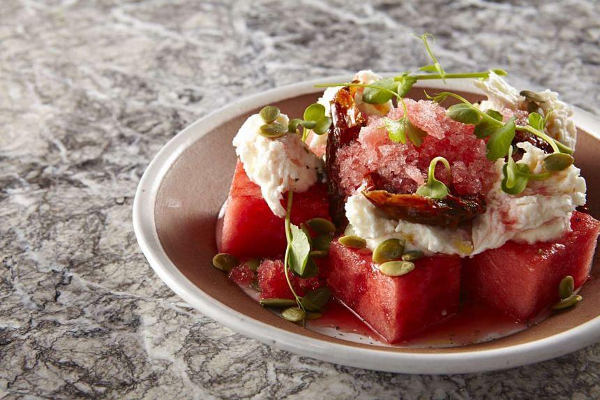 BOCHINCHE: Watermelon salad (S$14).
