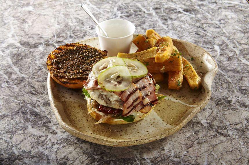 BOCHINCHE: The Chimichurri steak burger (S$29).