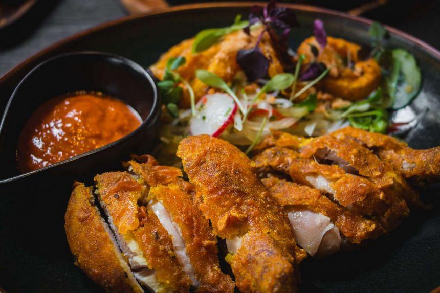 :PLUCK: Fried chicken (S$15).