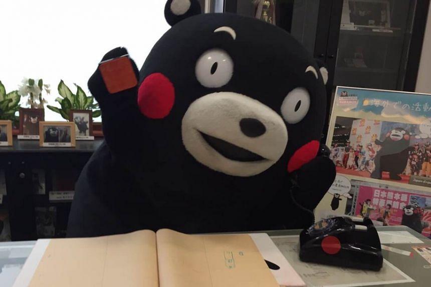Kumamon, the official mascot of Kumamoto Prefecture.