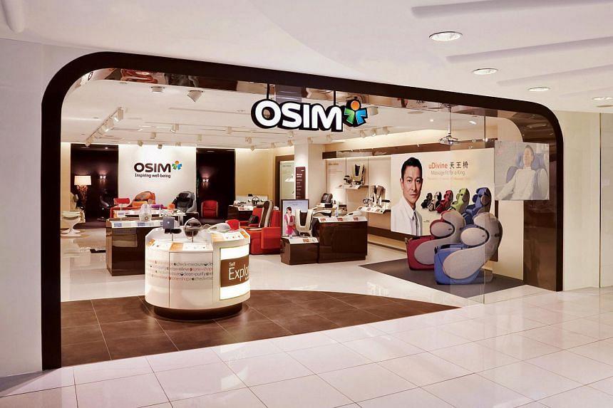 An Osim outlet at a shopping mall.