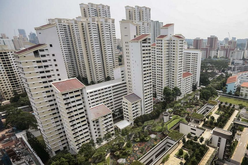 A cluster of high-rise public housing apartments situated in the Queenstown district of Singapore.