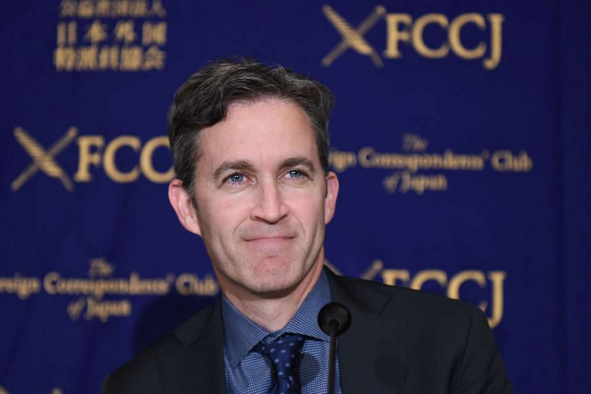 United Nations special rapporteur for freedom of expression David Kaye, before the start of his FCC press conference in Tokyo, on April 19, 2016.